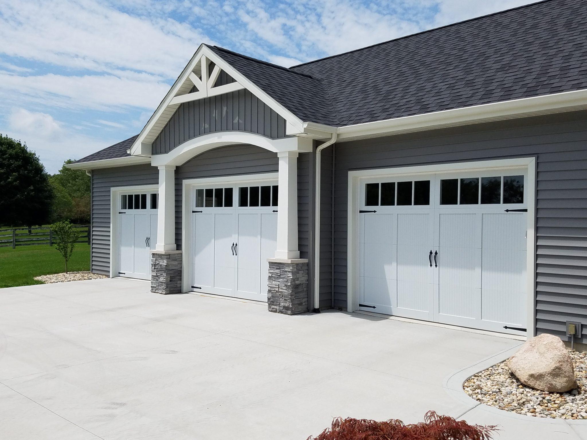 Vinyl Fiberglass Overlay Carriage House Doors & Vinyl Fiberglass Overlay Carriage House Doors - PDQ Door Company Inc.