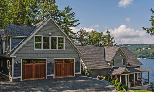custom carriage house wood and composite garage door