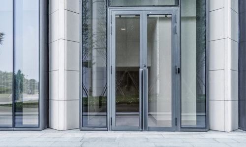 modern building outdoors commercial entry door