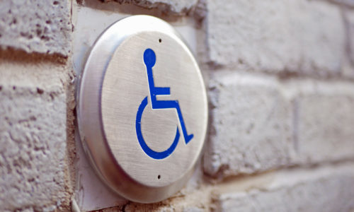 handicap accessible door button